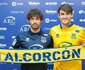 Víctor Pérez agradeció a la afición del Alcorcón el apoyo. ADAlcorcón