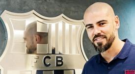 Valdés ya entrena al Juvenil A del Barça. BarcelonaFC