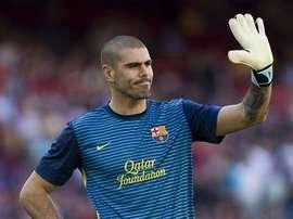 Víctor Valdés reviendra au Barça pour entraîner les U19. EFE