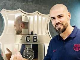 Victor Valdés, entraîneur chez les jeunes du Barça. FCBarcelona