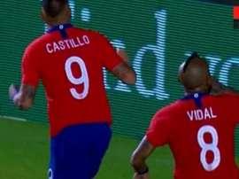 Vidal sacó su temperamento y mandó callar a los mexicanos. Captura/ESPN