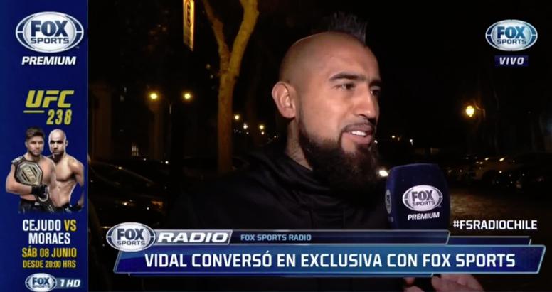 Vidal no se muerde la lengua y mostró sus preferencias en materia de fichajes. Captura/FOXSports