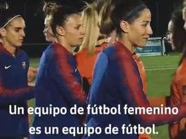 O Barcelona propagou uma campanha em favor do futebol feminino. FCBarcelona