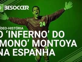 A carreira do guarda-redes 'Mono' Montoya truncou-se quando chegou na Espanha. BeSoccer