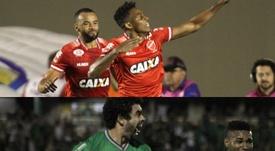 Vila Nova e Guarani se enfrentam pela 29ª rodada do Campeonato Brasileiro da Série B. Collage/Twitte