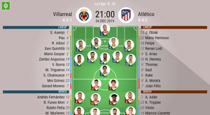 Villarreal v Atletico, Primera, 2019/20, matchday 16, 6/11/2019 - official line.ups. BESOCCER