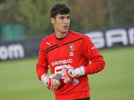 Vincent Dorent en un entrenamiento con el Rennes. StadeRennaisFC