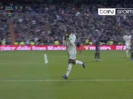 Vinicius a signé le 1-0. Capture/BeInSports