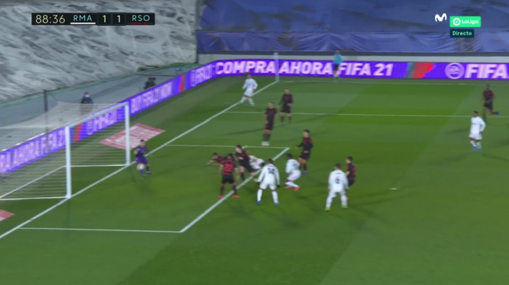 Vinicius empató el partido entre Real Madrid y Real Sociedad