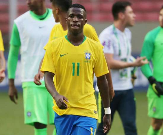 Vinicius had not been selected for Brazil for a year. AFP