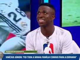 Vinicius eligió a Benzema antes que Messi o Cristiano. Captura/FoxSports