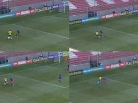 Vinicius aprontou contra a Colômbia. Captura/SportV
