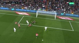 Vinicius almost opened the score against Athletic Bilbao. Screenshot/MovistarLaLiga