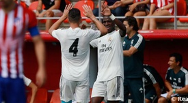 Vinícius marcó los dos goles del Real Madrid Castilla. RealMadrid