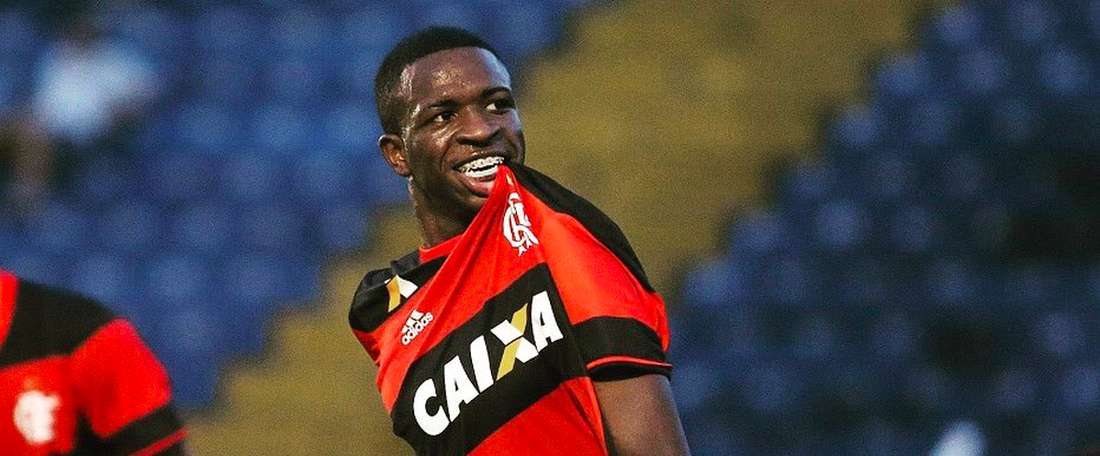 Jovem do Flamengo marcou duas vezes no final de semana. ViniciusOficial