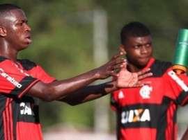 Vinícius et Lincoln, ensemble à Flamengo. Flamengo/Gilvan de Souza