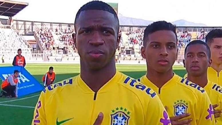 Rodrygo ha adelantado a Vinicius. RealMadrid