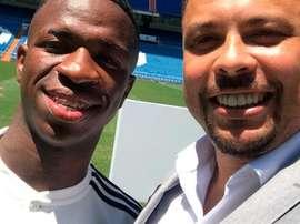 Vinicius e Ronaldo agora são rivais. RealMadrid
