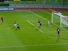 Viotti marcó el 1-0 para los suyos. Captura
