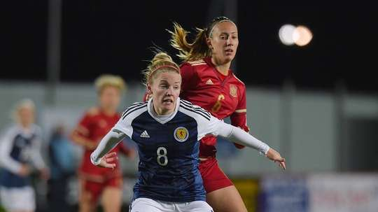Scotland and Arsenal Ladies midfielder Kim Little will be out of action for a while. TWITTER