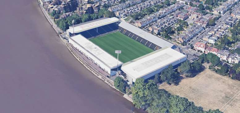 Fulham will have to buy the river. Google