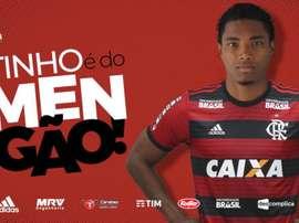Vitinho é anunciado como jogador do Flamengo. Twitter @Flamengo