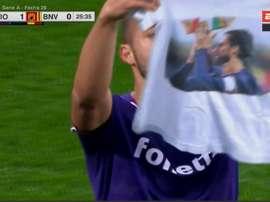 Vitor Hugo dedicou gol a Astori. Captura/ESPN