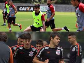 Vitória e Corinthians se enfrentam pela 30ª rodada do Campeonato Brasileiro. Collage/Twitter