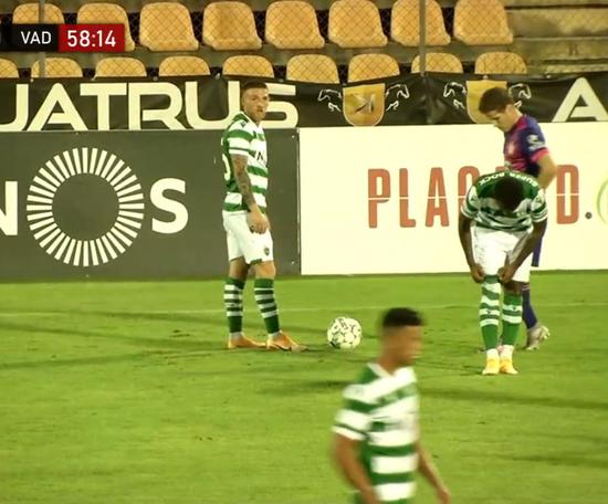 Jovane Cabral hizo el gol de la victoria de penalti. Captura/Footters
