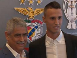 Vlachodimos é oficializado no Benfica. Captura/TwitterSLB