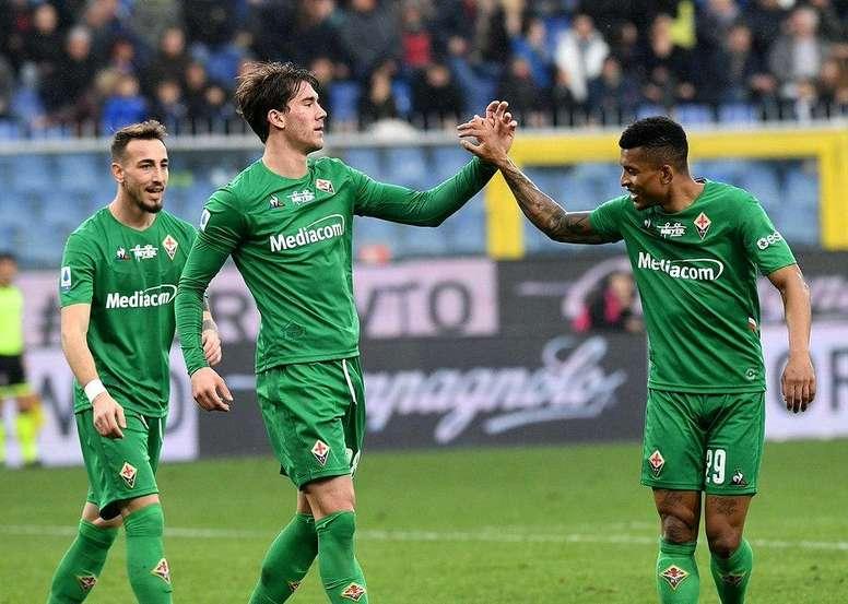 La Fiore goleó a la Sampdoria. Twitter/acffiorentina