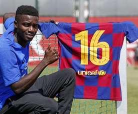 Barcelona confirma subida de Wagué à primeira equipe. FCBarcelona