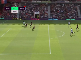 Walcott's goal was the first shot on target in the match. Screenshot/BEIN