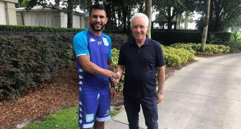 Walter Montoya ya es jugador de Racing Club. RacingClub