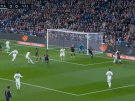 Wass own goal against Real Madrid. Captura/beIN