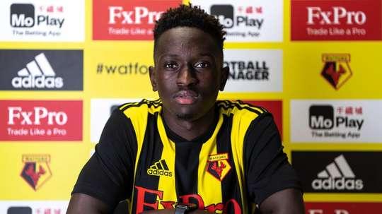 Watford sign Domingos Quina. Twitter/WatfordFC