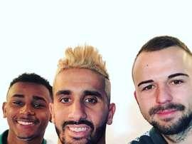 Os três reforços de inverno do Sporting CP. Twitter/SCP