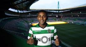 Sporting faz jogo duro para negociar Wendel. Twitter/SportingCP
