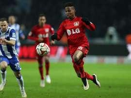 Wendell, durante un partido con el Bayer. Bayer04