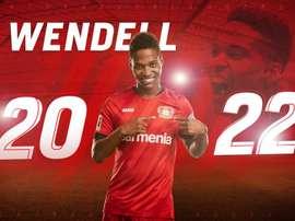 Wendell renova com o Bayer Leverkusen até 2022. Twitter @bayer04fussball