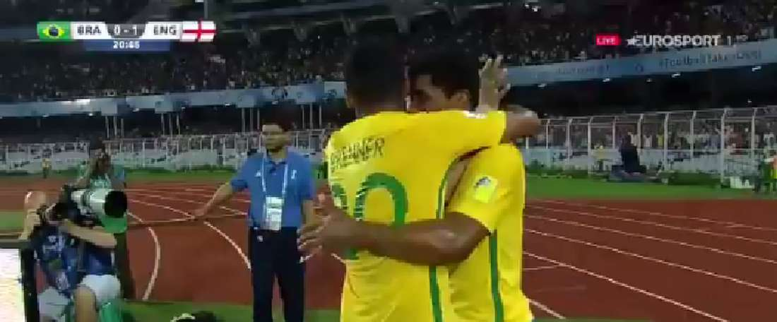 Wesley marcou o gol da 'Canarinho'. Twitter/Eurosport