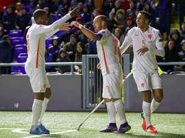 A Holanda venceu na deslocação a Bucareste. Twitter