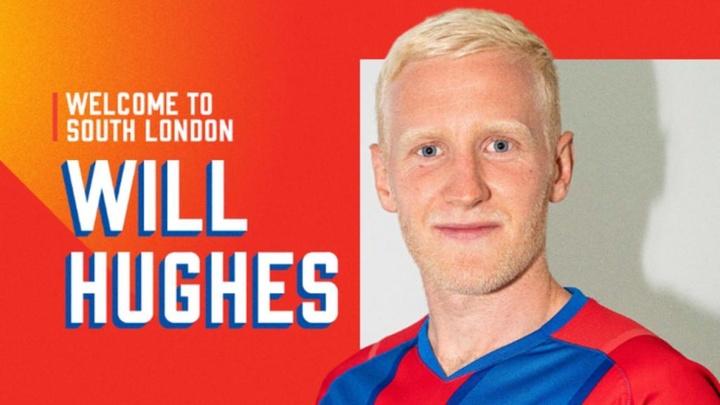 Will Hughes, nuevo jugador del Crystal Palace. Twitter/CPFC