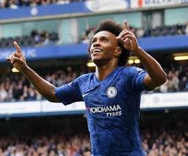 Willian marcou para o Chelsea e definiu o gol da vitória. ChelseaFC