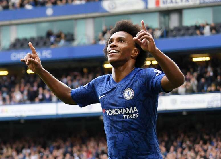 Willian anotó el segundo y definitivo gol de la victoria. ChelseaFC