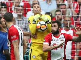 Caballero dropped the ball at a crucial moment. GOAL