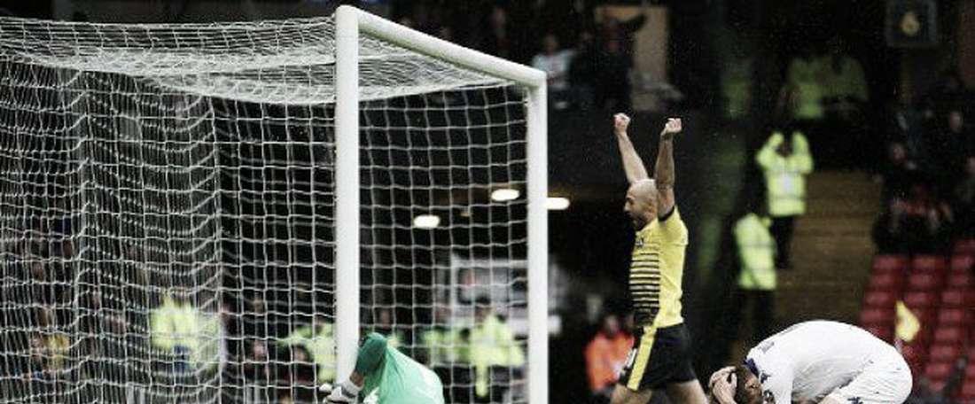 Wootton marcó el tanto de la victoria del Watford en su propia portería. Twitter