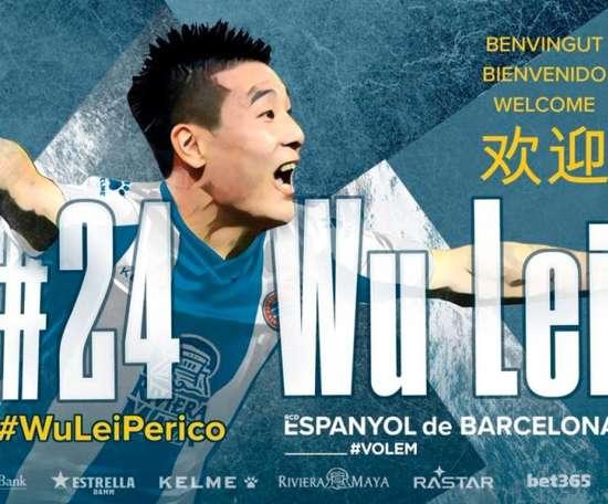 Wu Lei, nouveau renfort 'perico'. RCDEspanyol