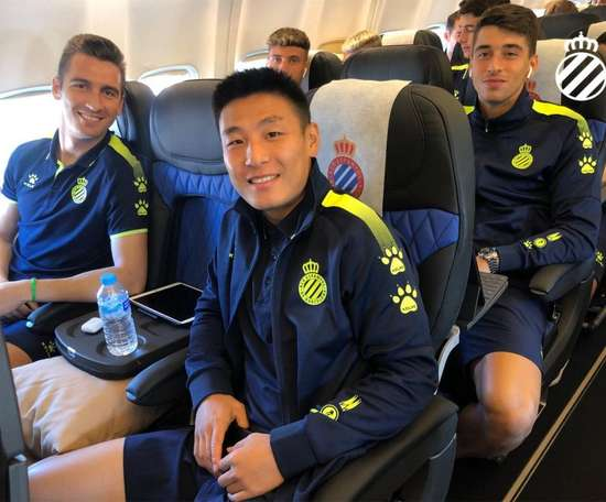 Espanyol arrive en Ukraine avec deux heures de retard.  RCDEspanyol
