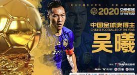 Wu Xi se lleva el Balón de Oro chino. TitanSports